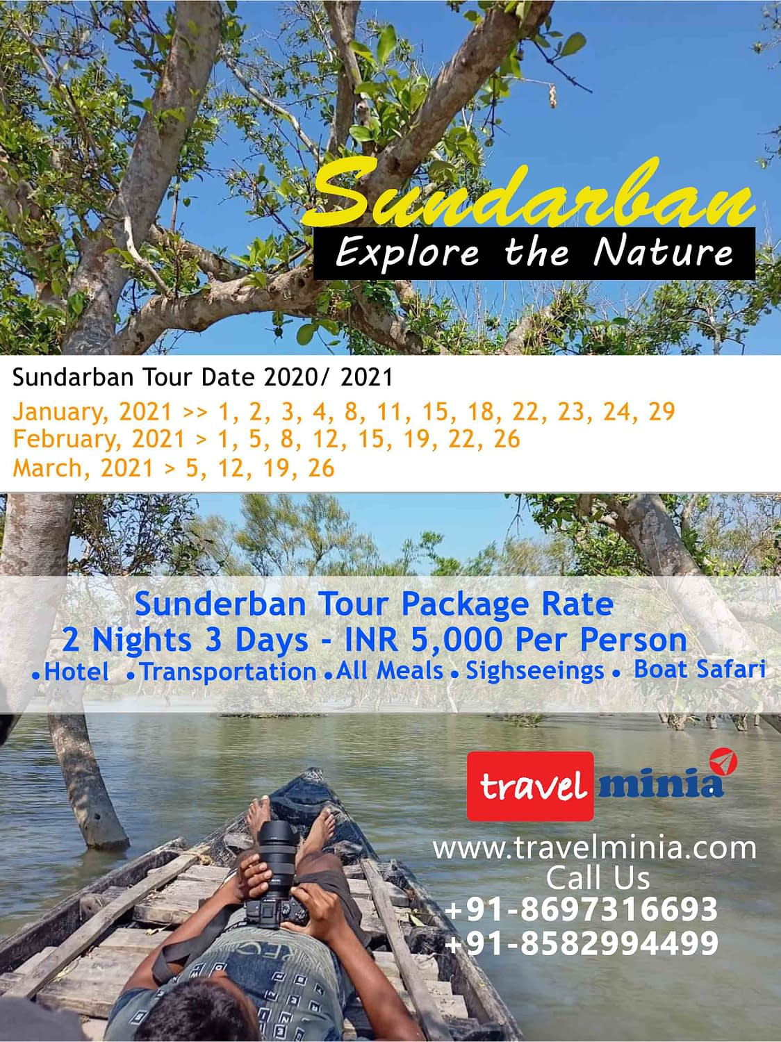 Sundarban Tour Package, Kolkata to Sundarban Package Tour - Travelminia